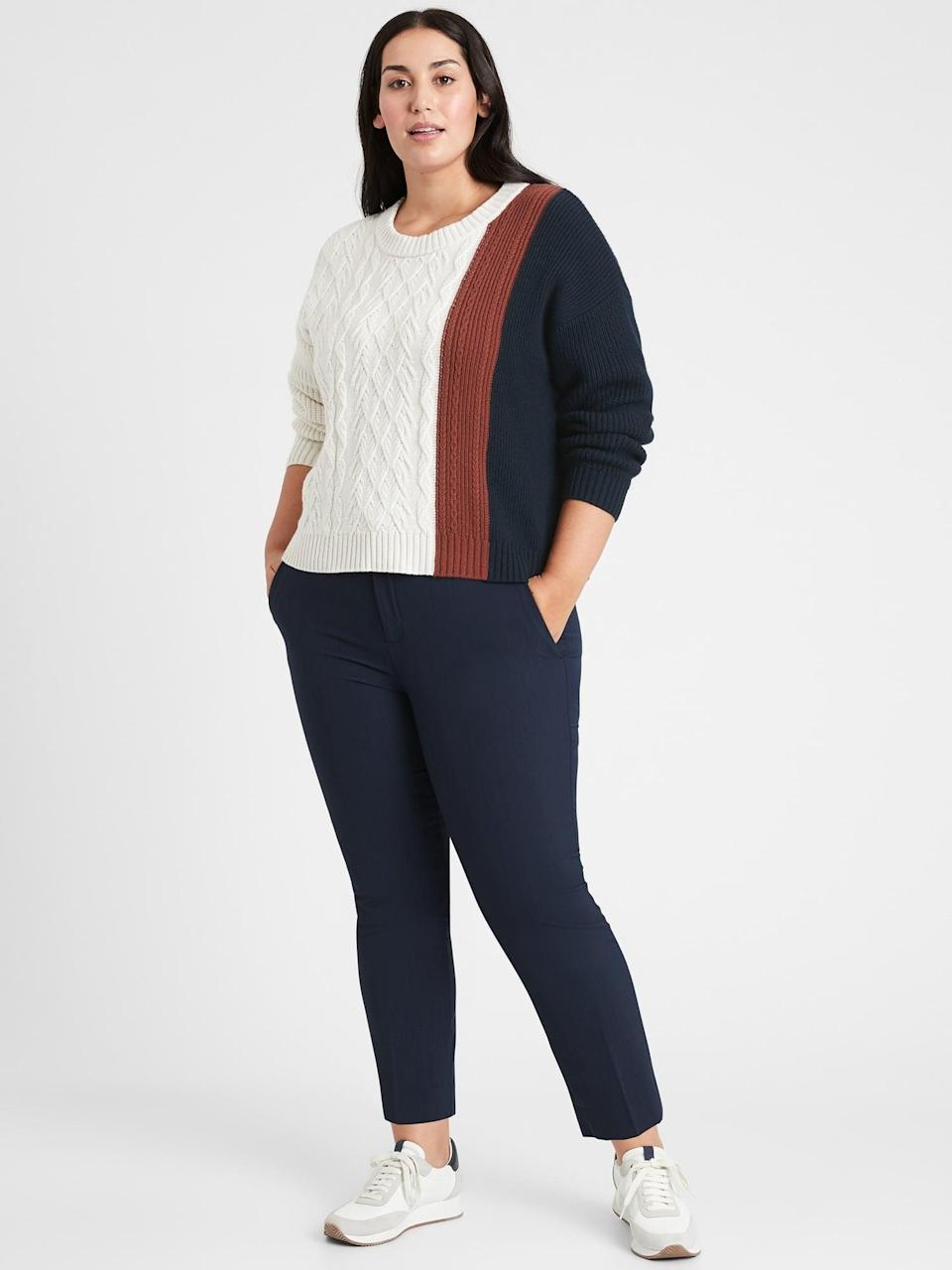 <p>Wool-blend pants like these <span>Banana Republic Avery Straight-Fit Washable Wool-Blend Ankle Pant</span> ($49, originally $99) are perfect for the winter months!</p>