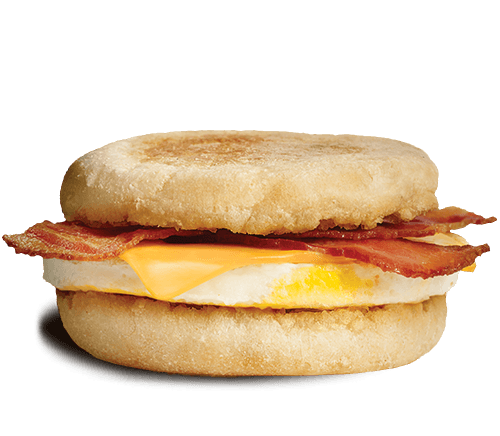 <p>Egg, processed cheddar cheese and bacon on an english muffin — this sandwich contains less sodium and saturated fat than the sausage and egger. <br> — Calories: 370 <br> — Fat: 21 g (Saturated Fat 7 g) <br> — Sodium: 760 mg <br> — Carbohydrates: 30 g <br> — Sugar: 1 g <br> — Source/Photo: A&W </p>