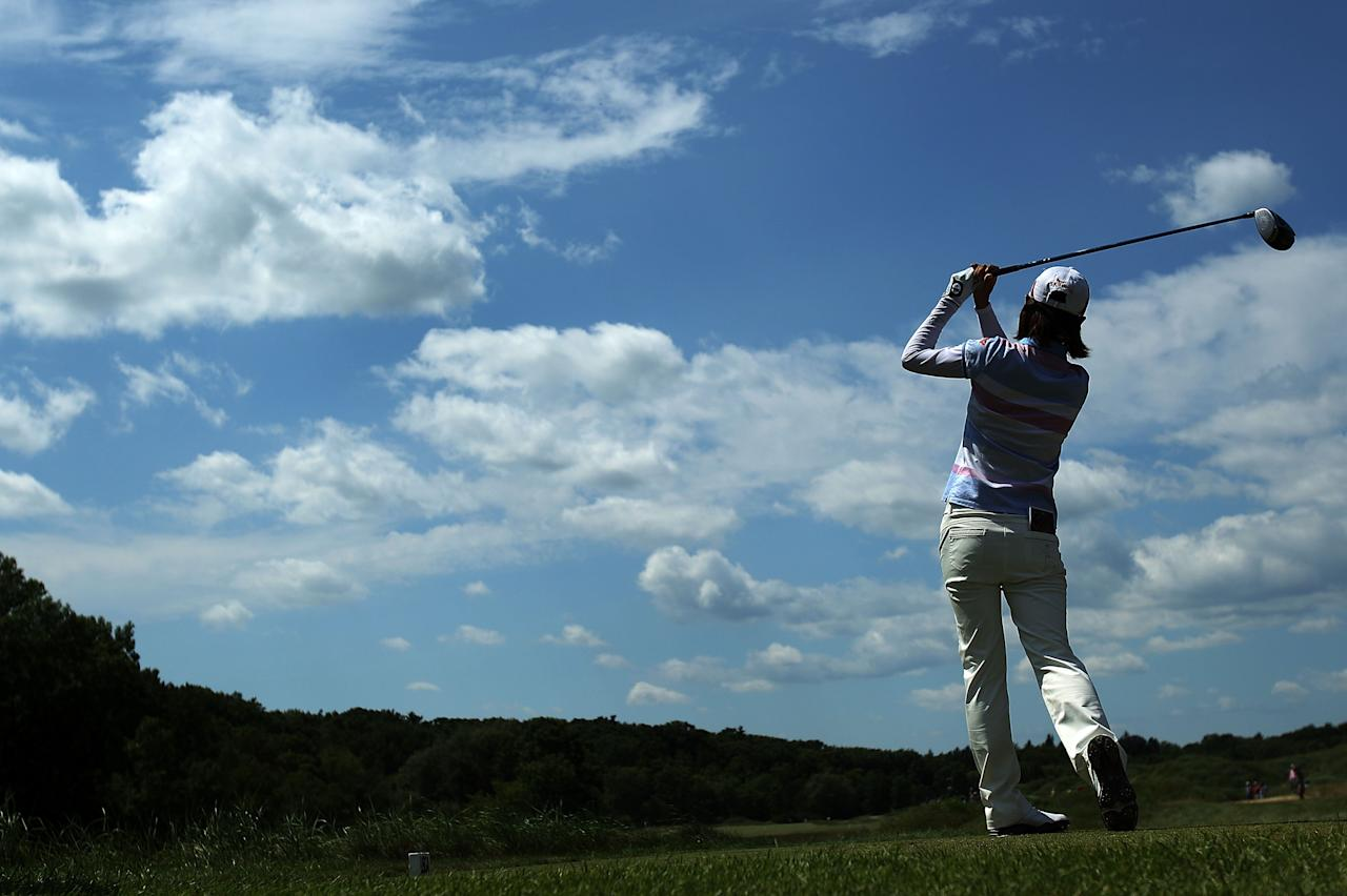 KOHLER, WI - JULY 08:  Na Yeon Choi of South Korea watches her tee shot on the tenth hole during the final round of the 2012 U.S. Women's Open on July 8, 2012 at Blackwolf Run in Kohler, Wisconsin.  (Photo by Scott Halleran/Getty Images)