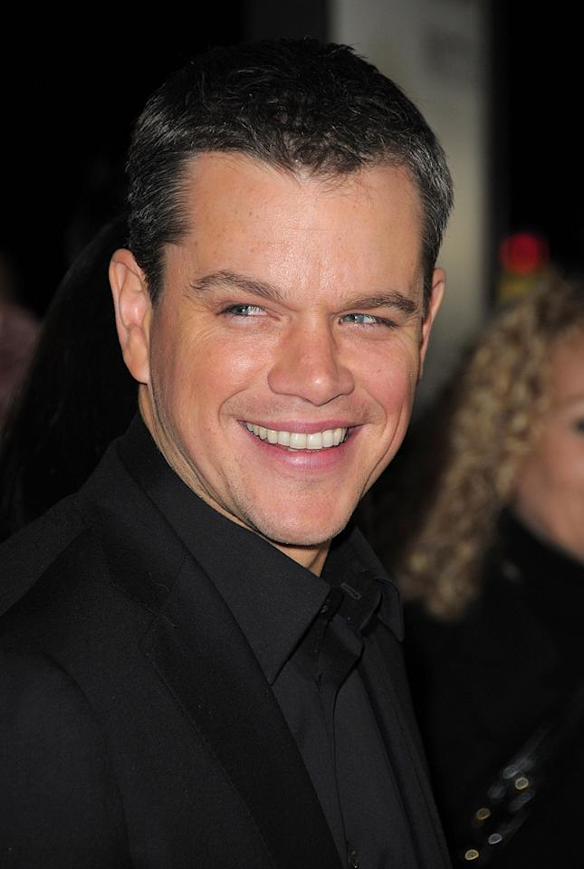 "<a href=""http://movies.yahoo.com/movie/contributor/1800020155"">Matt Damon</a> at the Los Angeles premiere of <a href=""http://movies.yahoo.com/movie/1810073710/info"">Invictus</a> - 12/03/2009"