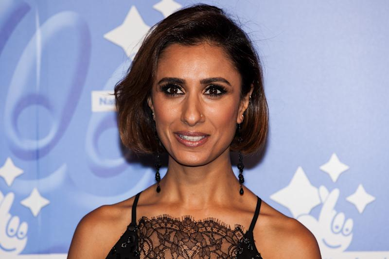 TV Presenter Anita Rani poses for photographers upon arrival at the National Lottery Awards, in central London, Friday, Sept. 9, 2016. (Photo by Grant Pollard/Invision/AP)