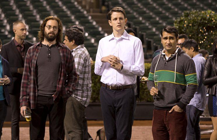 Martin Starr, Woods, and Kumail Nanjiani on 'Silicon Valley' (Photos: HBO)