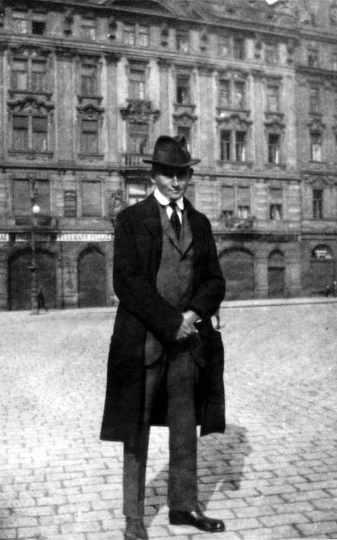 Franz Kafka In The Old Town Square In Prague, 1920-21 - Credit: Sovfoto/UIG via Getty Images