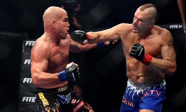 "<span class=""element-image__caption"">Chuck Liddell (right) and Tito Ortiz fought in California last month but the bout was widely criticised. </span> <span class=""element-image__credit"">Photograph: Joe Scarnici/Getty Images</span>"