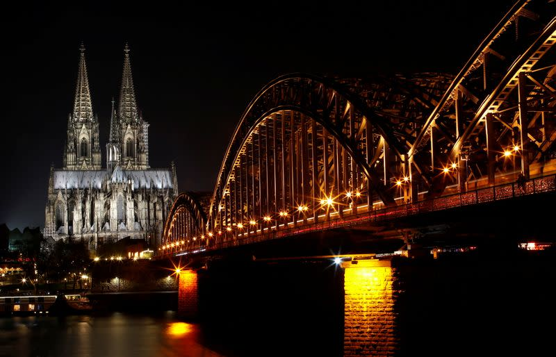 FILE PHOTO: Cologne Cathedral is seen before Earth Hour