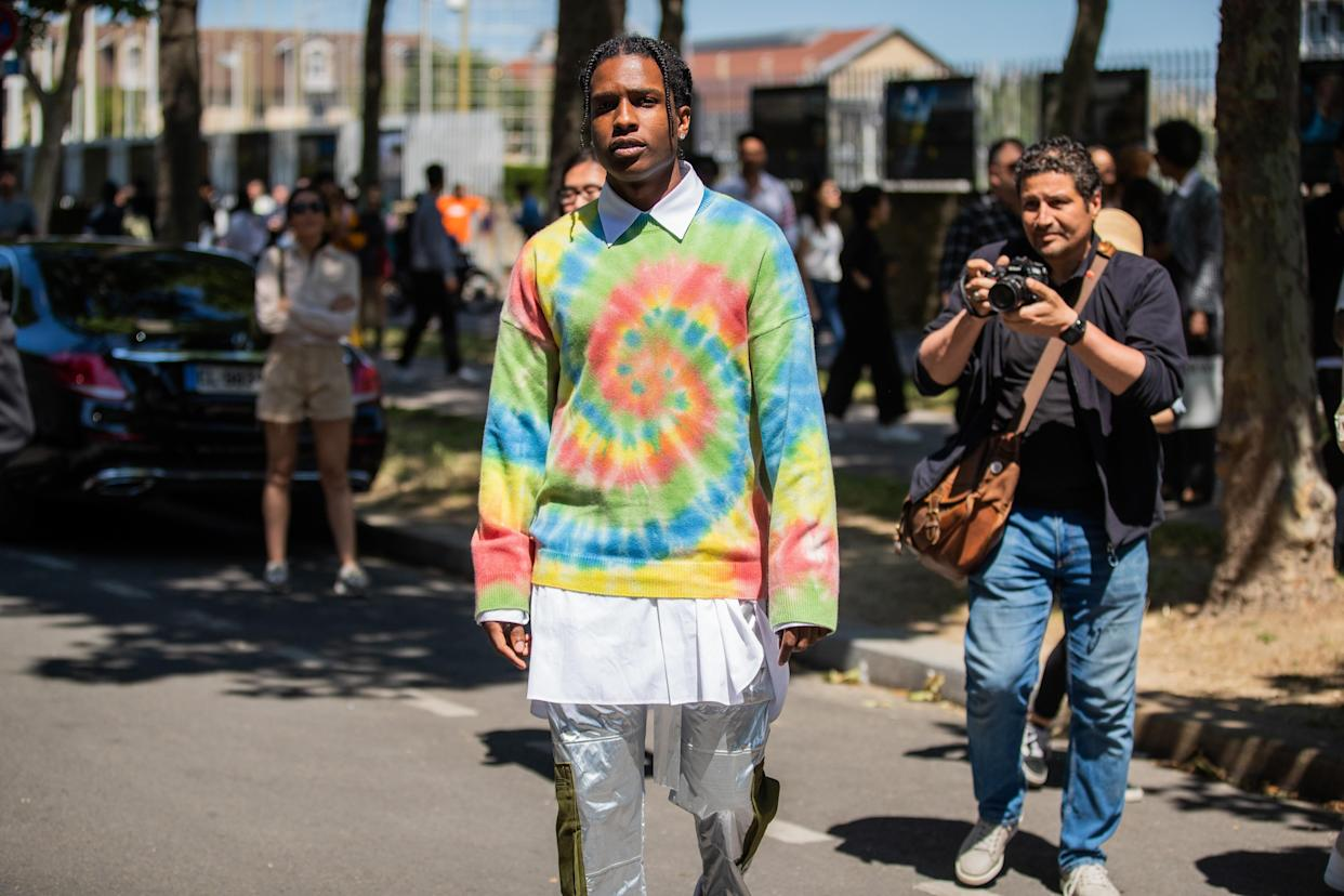A$AP Rocky during Paris Fashion Week on June 22. (Photo: Christian Vierig/Getty Images)