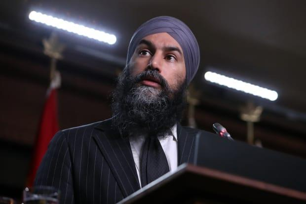 NDP Leader Jagmeet Singh has seen his party's national support rise from about 14 per cent in the spring of 2020 to 19 per cent today, according to an aggregation of polling data. (David Kawai / Canadian Press - image credit)