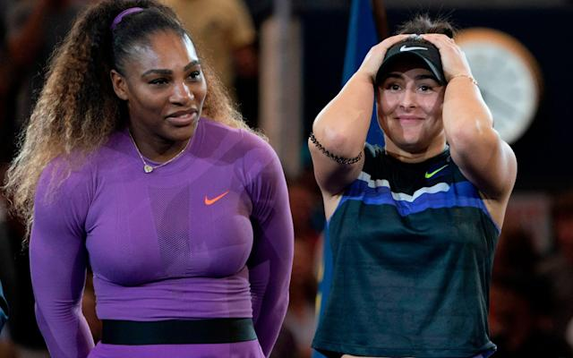 Bianca Andreescu and Serena Williams - AFP