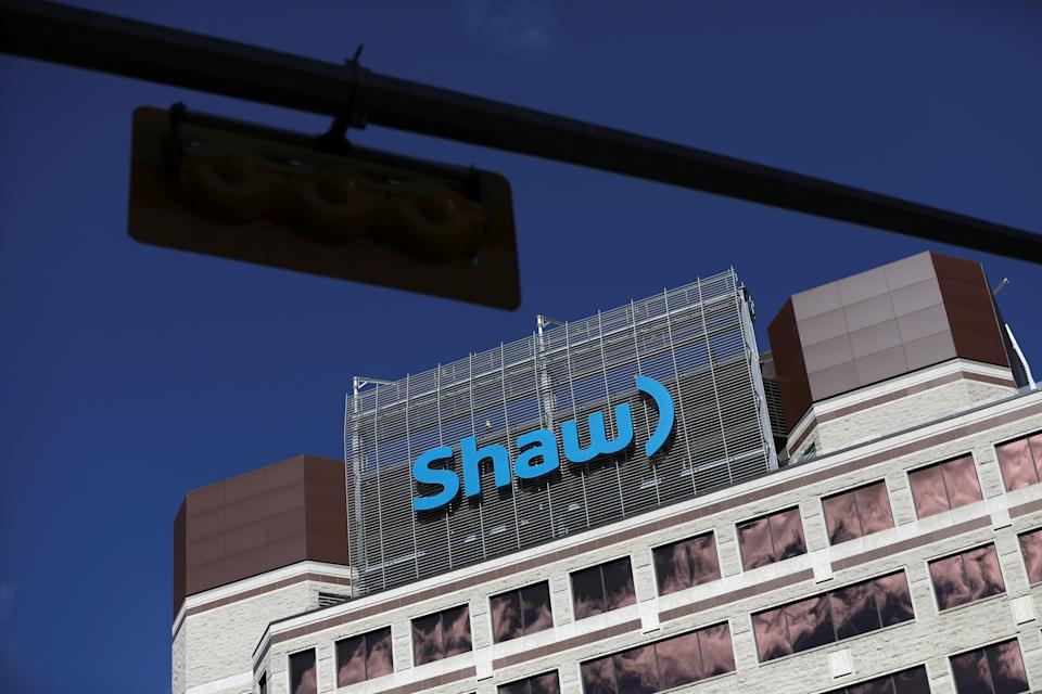 The Shaw Communications logo is seen at their office in Calgary, Alberta, Canada, April 17, 2019. REUTERS/Chris Wattie