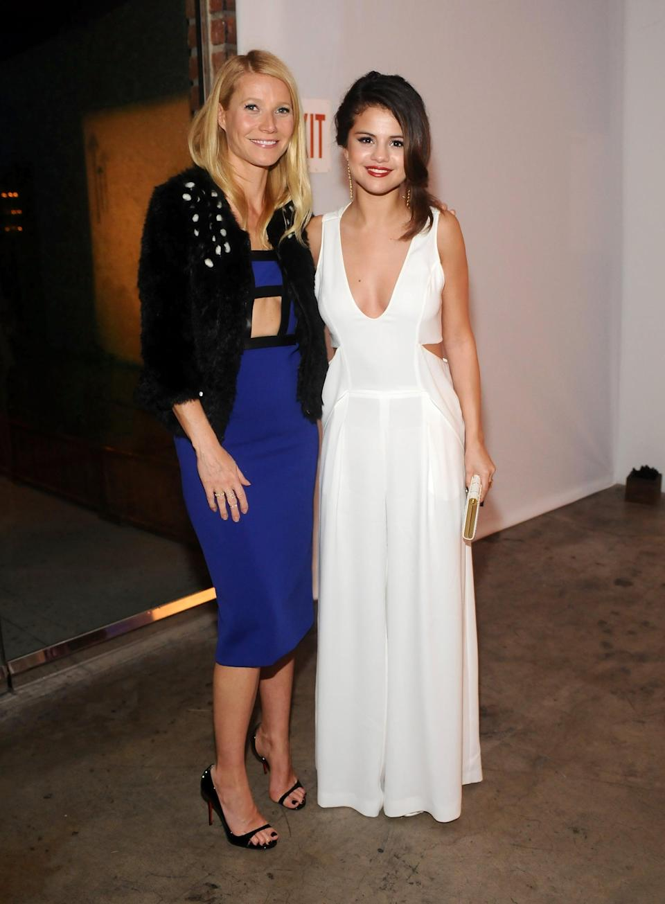 """<p>Selena partied with the likes of <a class=""""link rapid-noclick-resp"""" href=""""https://www.popsugar.com/Gwyneth-Paltrow"""" rel=""""nofollow noopener"""" target=""""_blank"""" data-ylk=""""slk:Gwyneth Paltrow"""">Gwyneth Paltrow</a> and <a class=""""link rapid-noclick-resp"""" href=""""https://www.popsugar.com/Reese-Witherspoon"""" rel=""""nofollow noopener"""" target=""""_blank"""" data-ylk=""""slk:Reese Witherspoon"""">Reese Witherspoon</a> at the Stand Up to Cancer benefit event in LA.</p>"""