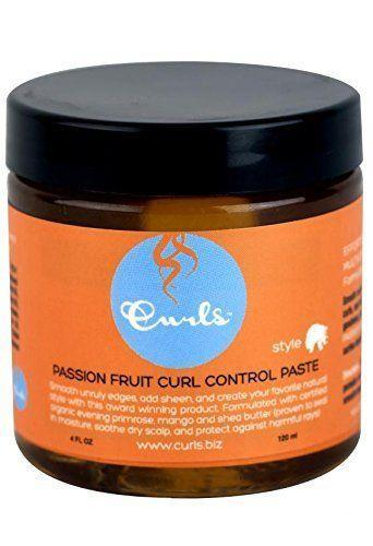 """<p><strong>Curls</strong></p><p>amazon.com</p><p><strong>$19.99</strong></p><p><a href=""""https://www.amazon.com/dp/B007Q3BQTI?tag=syn-yahoo-20&ascsubtag=%5Bartid%7C2140.g.35634822%5Bsrc%7Cyahoo-us"""" rel=""""nofollow noopener"""" target=""""_blank"""" data-ylk=""""slk:Shop Now"""" class=""""link rapid-noclick-resp"""">Shop Now</a></p><p>Sculpt, add shine, and slick your hairline with this tropical-scented paste, enriched with passion fruit oil, shea, and mango seed butter to deeply moisturize.</p>"""