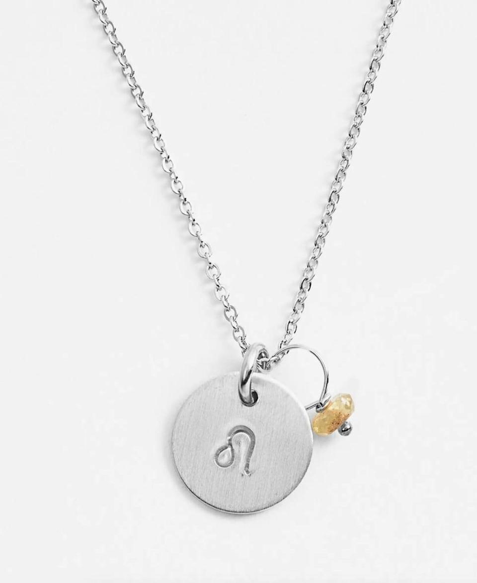 <p>They'll want to wear this <span>Nashelle Semiprecious Birthstone Sterling Silver Zodiac Mini Disc Necklace</span> ($52) every single day.</p>