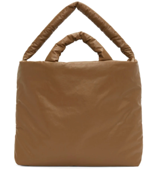 Kassl Editions tan large oil bag, 22% off. US$325 (was US$417.30). PHOTO: Ssense