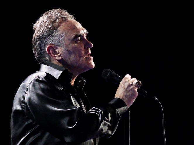British singer-songwriter Morrissey performs during the International Song Festival in Vina del Mar city. REUTERS/Eliseo Fernandez