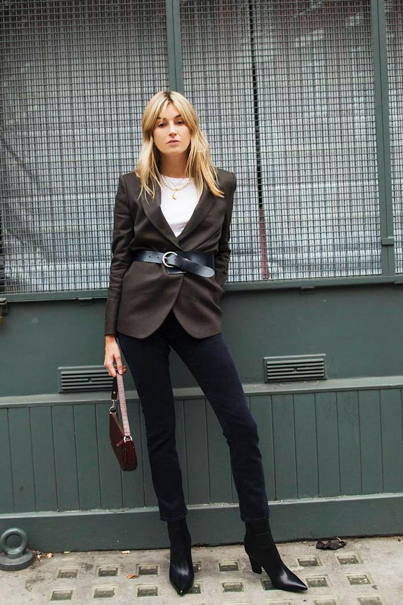 470024e75b9a2 Style Notes  Camille Charriere knows the power of good basics but also  knows that they ll look so much better when elevated. Kick your blazer into  2018 with ...