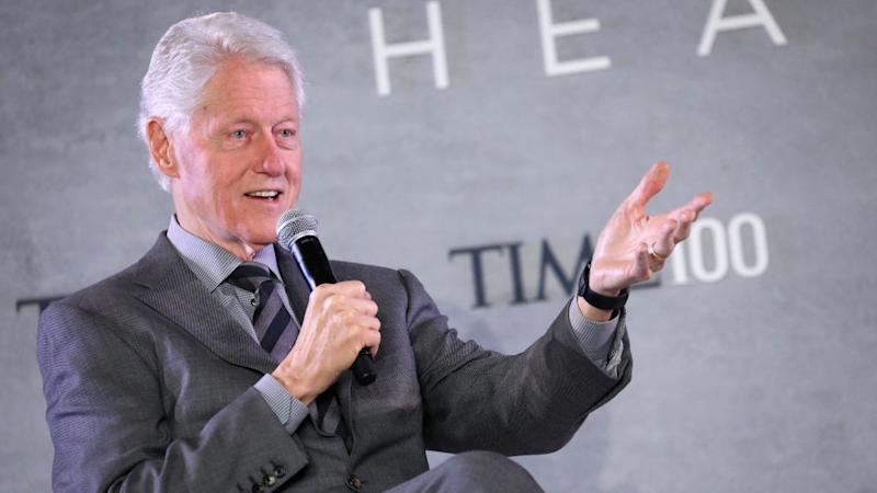 Bill Clinton speaks onstage during the TIME 100 Health Summit at Pier 17 on October 17, 2019 in New York City.