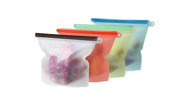 Mlife Reusable Silicone Food Storage Bag Set
