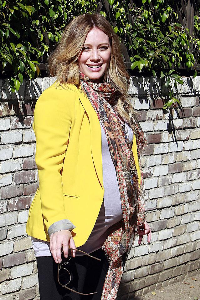 "<p class=""MsoNormal""><span style=""font-size:10.0pt;"">Hilary Duff didn't want to waste any time starting a family. On August 14, 2011, a year to the day after marrying NHL pro Mike Comrie, the actress revealed that the newlyweds were going to be parents. And it sounds like the new addition could be coming any day now. ""Who knows could be the last weekend it's just the 2 of us :0"" Hilary posted on Twitter this past Sunday, after spending the weekend with her hubby in Montecito, California, the site of their wedding. </span></p>"
