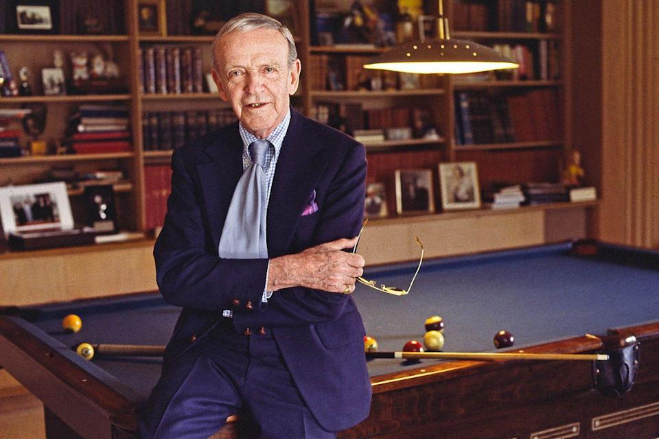 <p>Fred Astaire in the living room of his home in Beverly Hills in May 1979.</p>