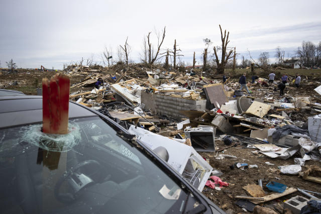 """The <a class=""""link rapid-noclick-resp"""" href=""""/nfl/teams/tennessee/"""" data-ylk=""""slk:Tennessee Titans"""">Tennessee Titans</a> Foundation is donating $1 million to help with Nashville tornado relief efforts. (Photo by Brett Carlsen/Getty Images)"""