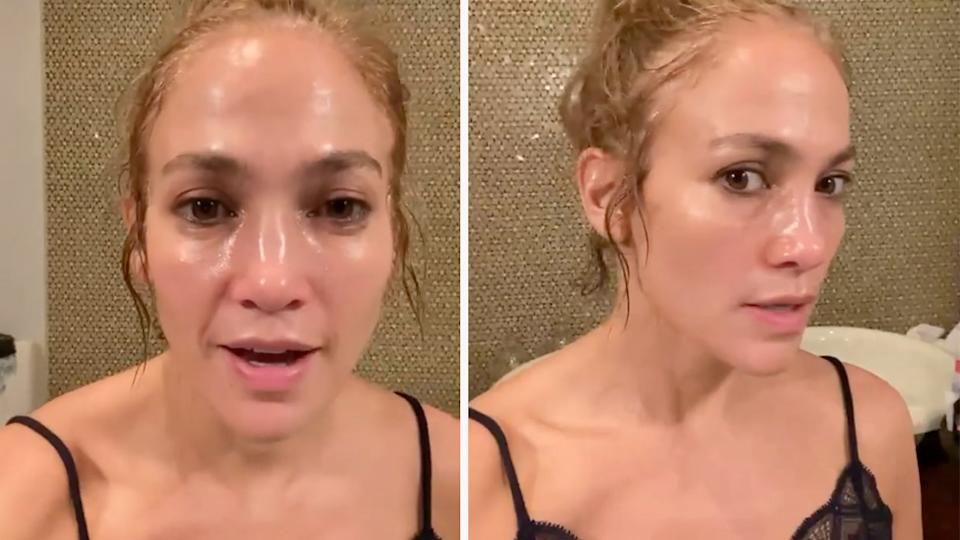 JLo has hit back at a fan claiming she uses Botox. Photo: Instagram/JLo