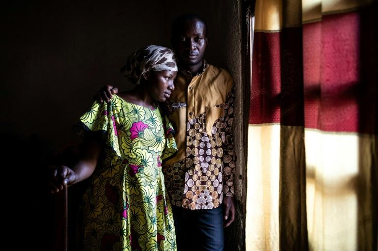Maurice, 35, and his wife Esperance both contract Ebola. He now heads the Ebola survivors association (AFP Photo/JOHN WESSELS)