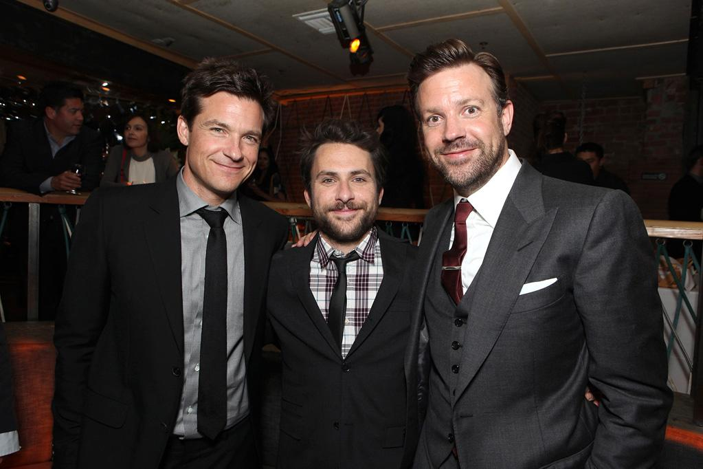 "<a href=""http://movies.yahoo.com/movie/contributor/1800019148"">Jason Bateman</a>, <a href=""http://movies.yahoo.com/movie/contributor/1807657139"">Charlie Day</a> and <a href=""http://movies.yahoo.com/movie/contributor/1809724956"">Jason Sudeikis</a> at the Los Angeles premiere of <a href=""http://movies.yahoo.com/movie/1810161382/info"">Horrible Bosses</a> on June 30, 2011."