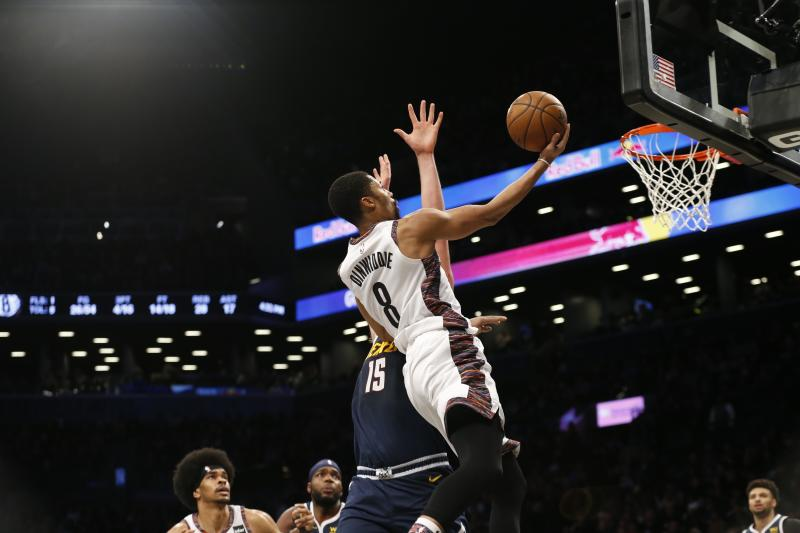 Spencer Dinwiddie attacks late when Nets stops Nuggets