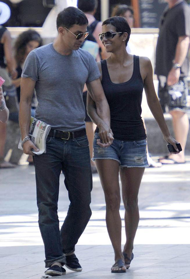 "Halle Berry recently showed off her stems in some Daisy Dukes during her trip to Spain with boyfriend Olivier Martinez. At age 45, she's got better legs than most women half her age! G Tres/<a href=""http://www.splashnewsonline.com"" target=""new"">Splash News</a> - September 11, 2011"