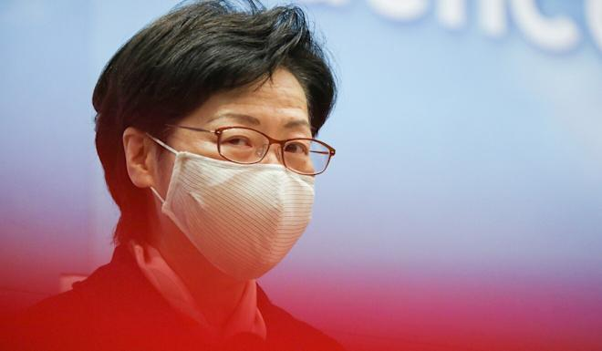 Chief Executive Carrie Lam said authorities had to act in accordance with the law. Photo: Nora Tam