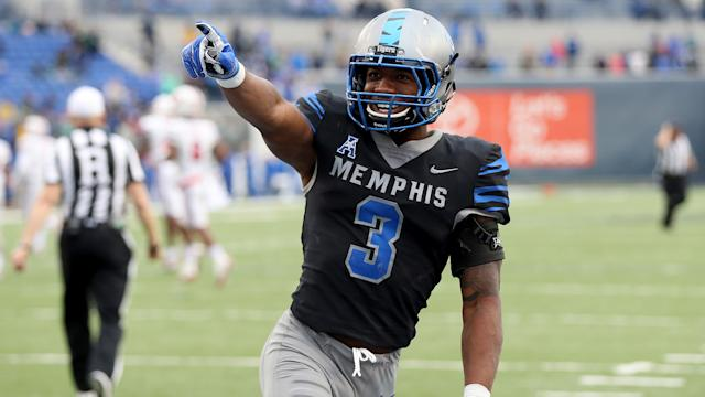 Memphis wide receiver Anthony Miller was a red zone machine in college. (via NFL)