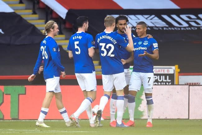 Richarlison goal gives Everton win over Sheffield United