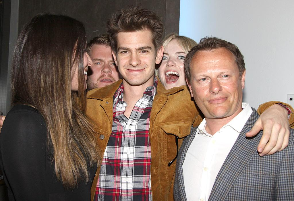 """Opening night after party for the Brits Off Broadway production of """"Bull"""" at 59E59 TheatersFeaturing: Eleanor Matsuura,James Corden,Andrew Garfield,Emma Stone,Neil StukeWhere: New York, NY, United StatesWhen: 02 May 2013Credit: Joseph Marzullo/WENN.com"""