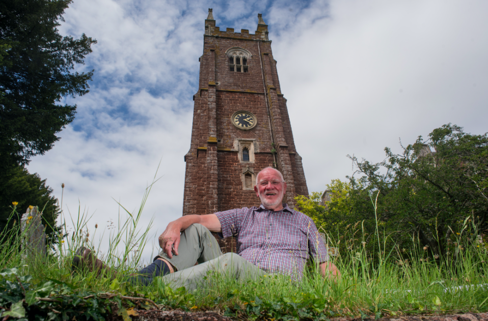 Mike Adams, a bellringer at All Saints Church in Kenton, Devon, fears the bells could be permanently silenced. (SWNS)