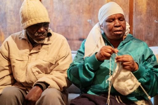 Enok Mukanhairi and his wife Angeline Tazira, who is also blind