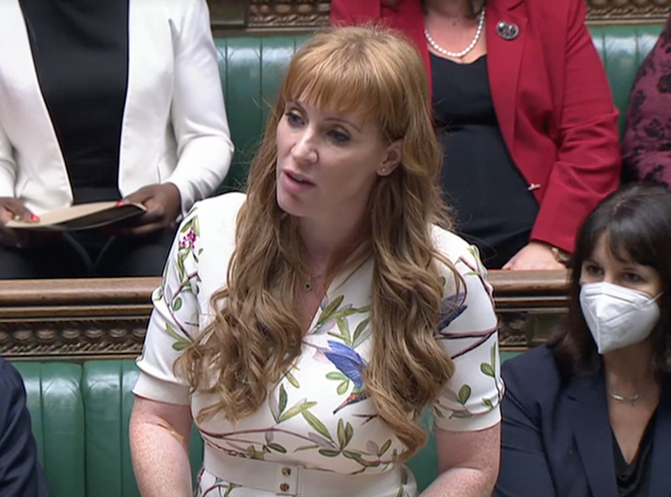 Angela Rayner faces Dominic Raab at PMQs on Wednesday 22 September  (Reuters TV)
