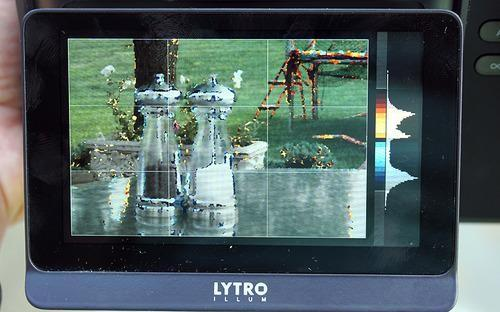 Lytro Illum screen with background and foreground items highlighted