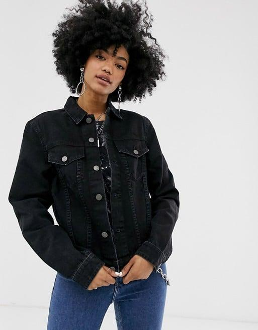 "<p>This classic <a href=""https://www.popsugar.com/buy/Cheap%20Monday%20Legit%20Denim%20Jacket-471334?p_name=Cheap%20Monday%20Legit%20Denim%20Jacket&retailer=us.asos.com&price=35&evar1=fab%3Aus&evar9=46411222&evar98=https%3A%2F%2Fwww.popsugar.com%2Ffashion%2Fphoto-gallery%2F46411222%2Fimage%2F46411842%2FCheap-Monday-Legit-Denim-Jacket&list1=shopping%2Casos%2Csale%20shopping%2Caffordable%20shopping&prop13=api&pdata=1"" rel=""nofollow"" data-shoppable-link=""1"" target=""_blank"" class=""ga-track"" data-ga-category=""Related"" data-ga-label=""https://us.asos.com/cheap-monday/cheap-monday-legit-denim-jacket/prd/12230615?clr=black&amp;colourWayId=16379494&amp;SearchQuery=&amp;cid=7046"" data-ga-action=""In-Line Links"">Cheap Monday Legit Denim Jacket</a> ($35, originally $114) is a totally steal.</p>"