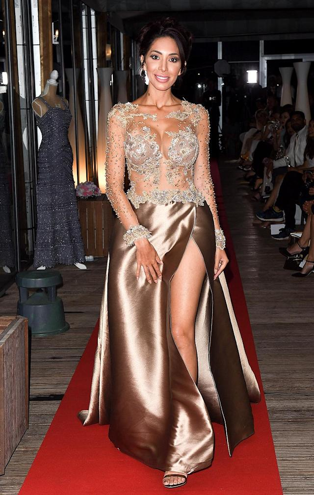 <span>Farrah Abraham walks the red carpet in Cannes, France, on May 15, 2018. (Photo: Mega Agency)</span>
