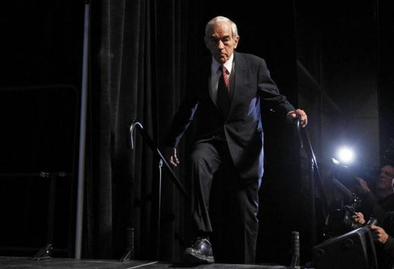 Ron Paul arrives to speak at the annual Republican Party of Iowa Ronald Reagan Dinner in Des Moines, Iowa, November 4, 2011. (REUTERS/Jim Young)