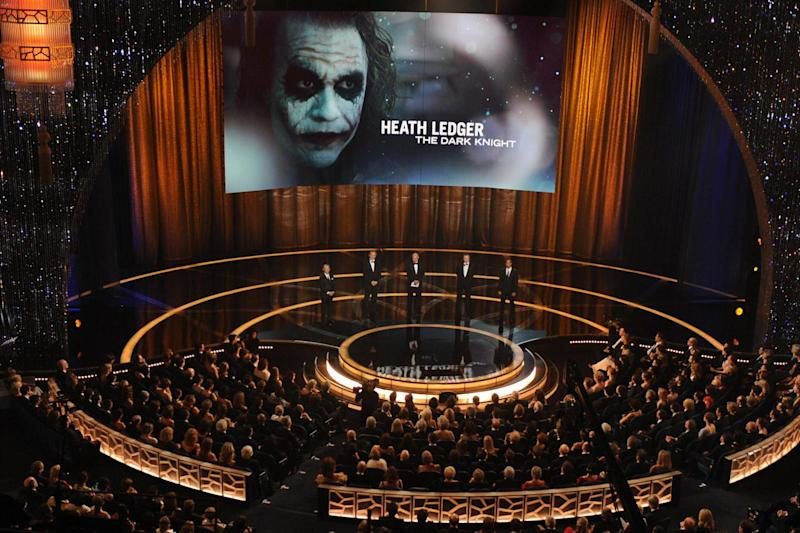 Tribute: Ledger is one of two stars to receive a posthumous Oscar (AFP/Getty Images)