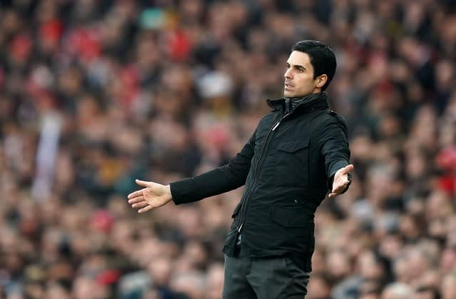Mikel Arteta is still waiting for his first win as Arsenal manager (John Walton/PA).