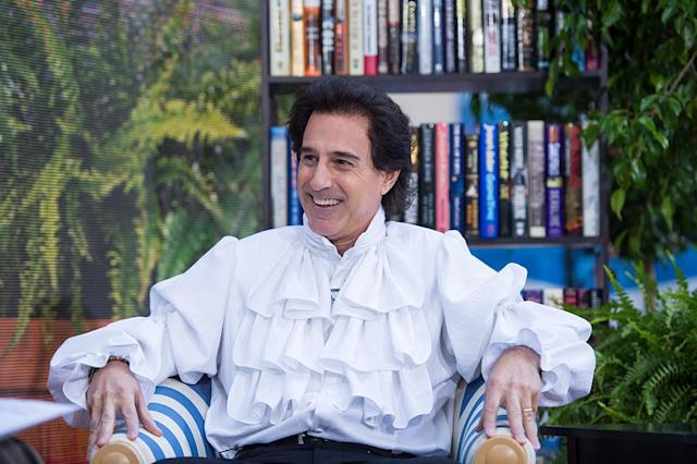 "<p>Lauer couldn't help but laugh while portraying Jerry Seinfeld in ""The Puffy Shirt"" episode, in which Jerry was mocked by former <i>Today</i> host Bryant Gumbel for wearing the ridiculous shirt designed by Kramer's soft-spoken girlfriend on TV. (Photo: Nate Congleton/NBC) </p>"