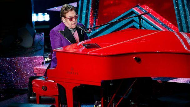 PHOTO: Elton John performs '(I'm Gonna) Love Me Again' from Rocketman during the Oscars show at the 92nd Academy Awards in Hollywood, Calif., Feb. 9, 2020. (Mario Anzuoni/Reuters)