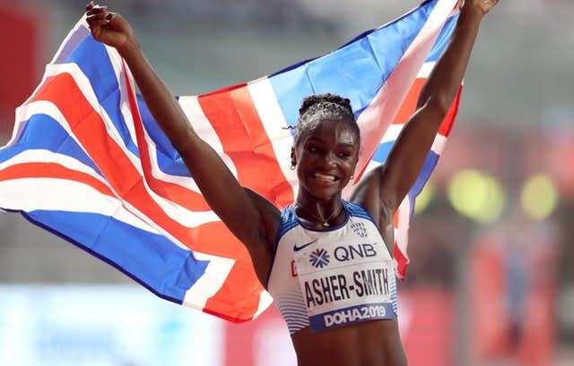Great Britain's Dina Asher-Smith won the 200m title in Doha (Mike Rickett/PA)