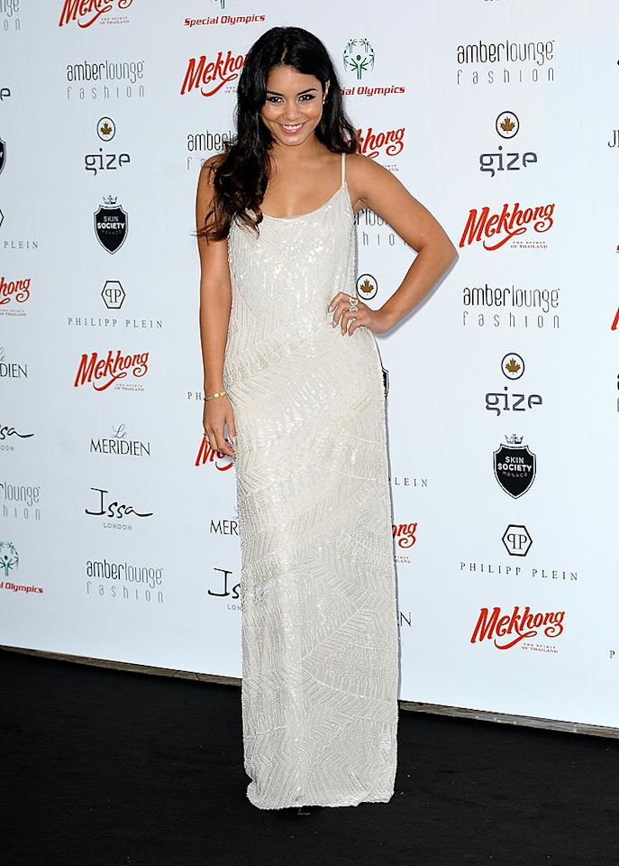 """Vanessa Hudgens looked incredibly mature as she made her way down the arrivals line in an Alberta Ferretti frock at a recent charity event in Monaco. Can the former """"High School Musical"""" hottie keep it up, or will she land in our What Were They Thinking?! gallery in the coming weeks? Discuss! (5/25/2012)"""