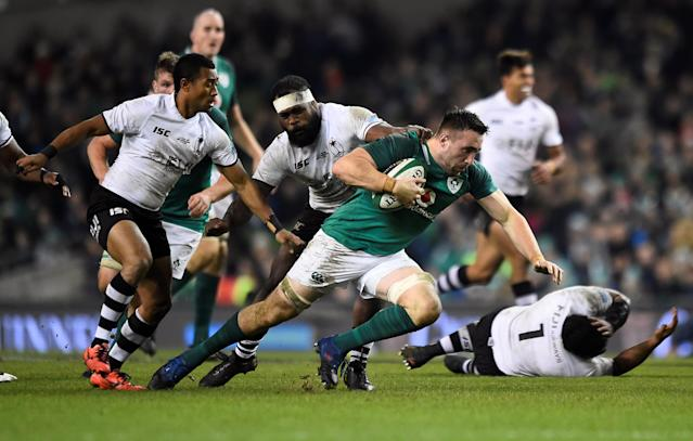 Rugby Union - Autumn Internationals - Ireland v Fiji - Aviva Stadium, Dublin, Republic of Ireland - November 18, 2017 Ireland's Jack Conan in action REUTERS/Clodagh Kilcoyne