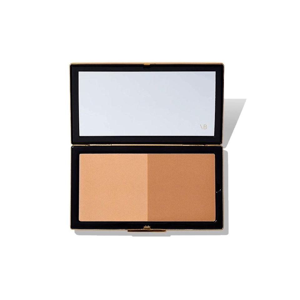 """While sure, you can use bronzer to shape your face, it's technically recommended that contouring should be done with a cool-toned powder since you're emphasizing shadows. This duo from Cheekbone Queen Victoria Beckham includes a cool-tones powder for definition, and a warmer shade to add a sun-kissed effect to your skin. Both powders are insanely fine and seamless, and the packaging is beautiful and luxe. $58, Victoria Beckham. <a href=""""https://www.victoriabeckhambeauty.com/matte-bronzer/"""" rel=""""nofollow noopener"""" target=""""_blank"""" data-ylk=""""slk:Get it now!"""" class=""""link rapid-noclick-resp"""">Get it now!</a>"""