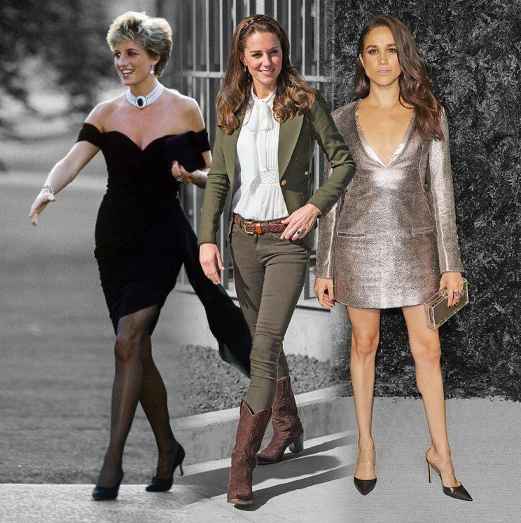 Princess Diana, the Duchess of Cambridge and Meghan Markle are fashion influencers. (Casey Hollister 4:20 PM Photo: Getty Images)