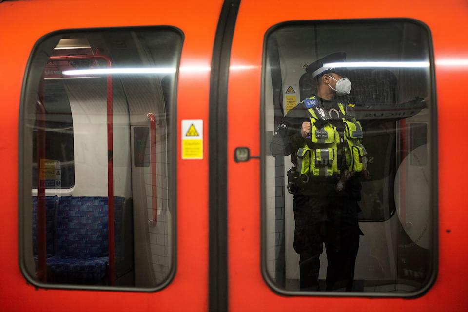 <p>RMT members on the Central line to strike</p> (PA Archive)